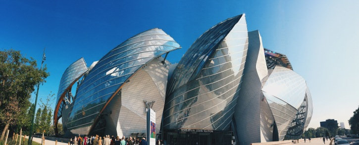 Fondation Louis Vuitton bathes in the April sun