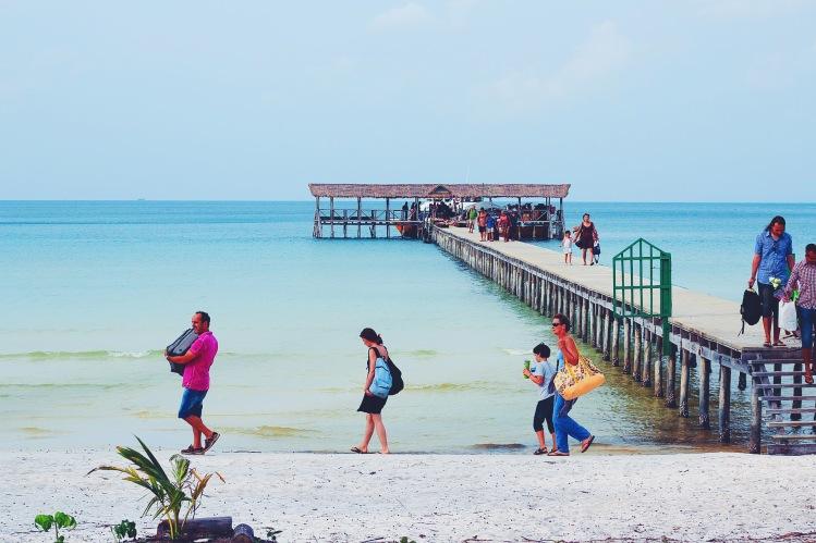 Arriving at the port of Koh Rong Samloem Island