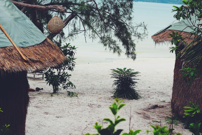 A view from the bungalow window.