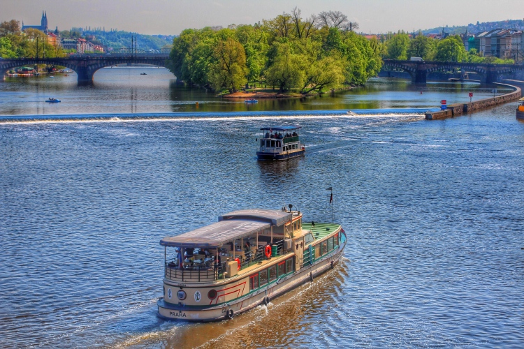 Vltava River, a view from the Charles Bridge