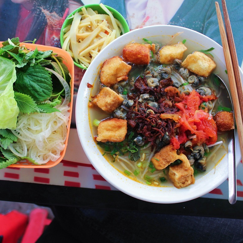 Bún Ốc, plain to eat? Add some chili and fish sauce.