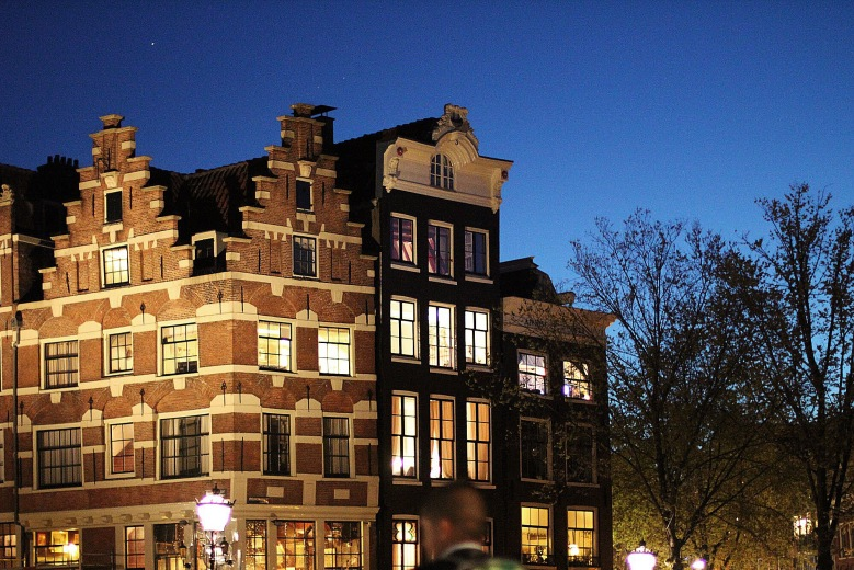 Night fall over Herengracht.