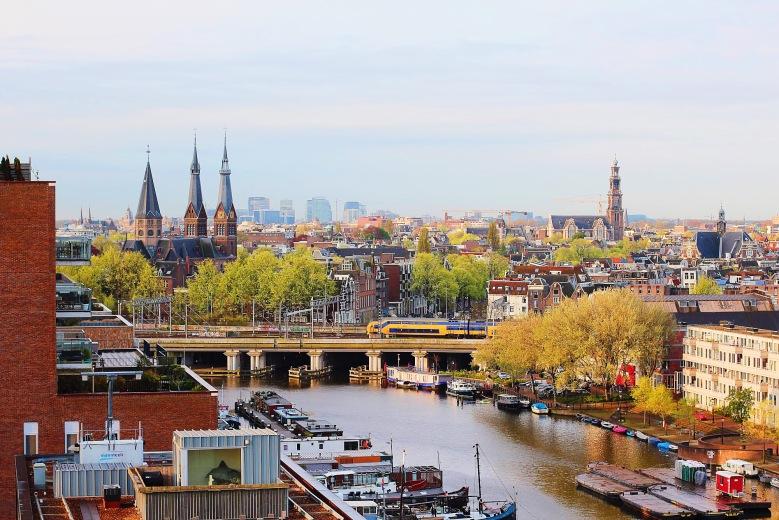 Skyline of Amsterdam.