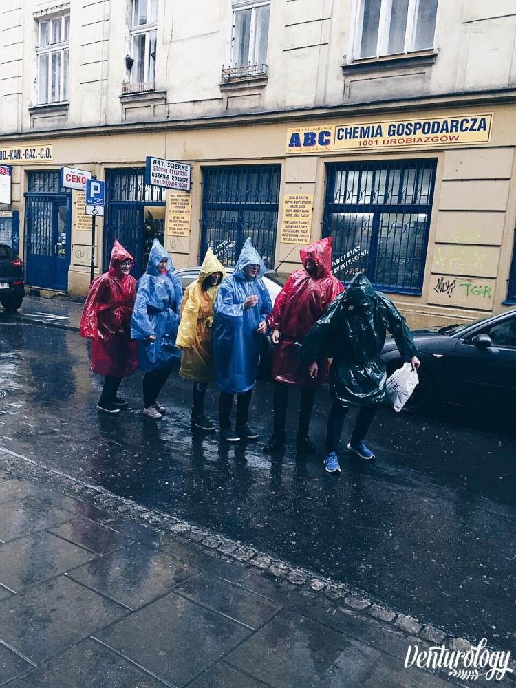 Rain walking in style.