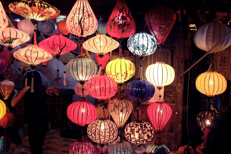 """Handmade lanterns in Hoi An Old Quarter. The town is described by Lonely Planet as """"one of the nation's most wealthy towns, a culinary mecca and one of Vietnam's most important tourism centres."""" The well-preserved old town has been named the UNESCO World Heritage Center in 1999, which won't fail your expectation."""