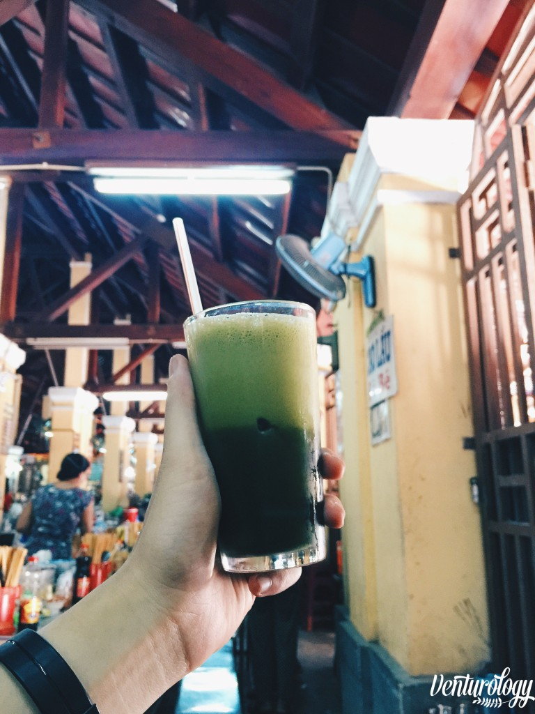 Centella juice, green and healthy.