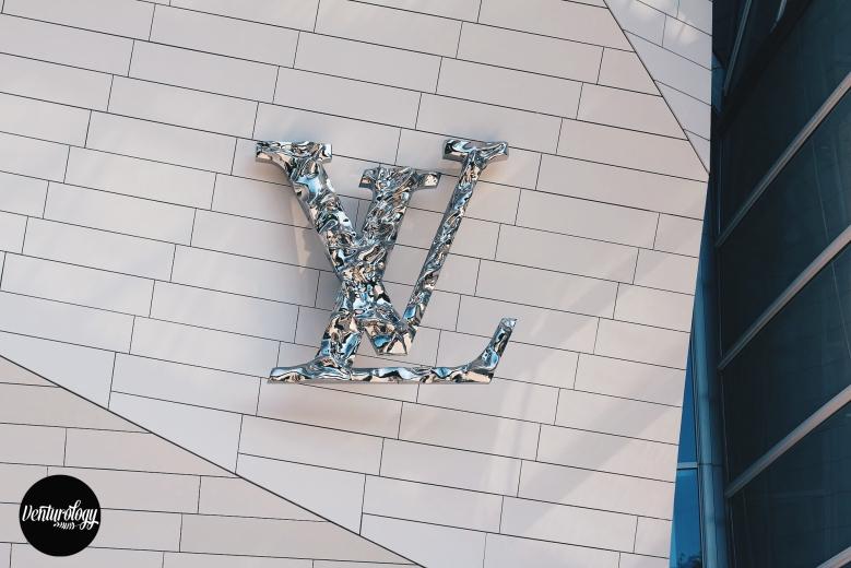 LV Initials on the design.