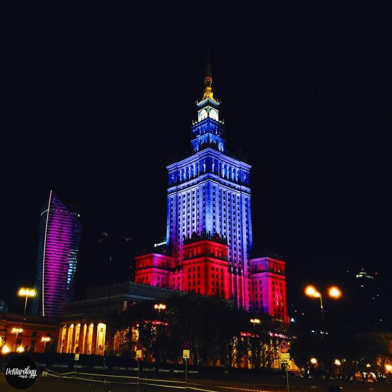Night view at the Palace