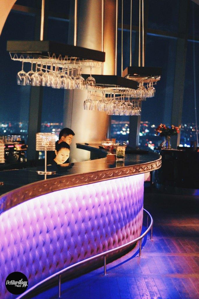 EON Heli Bar's bar counter
