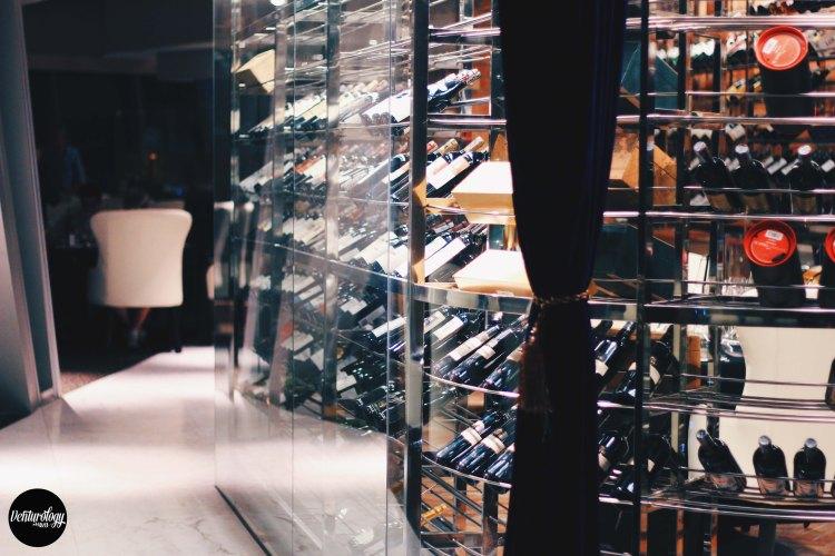EON Heli Bar's Wine Shelves