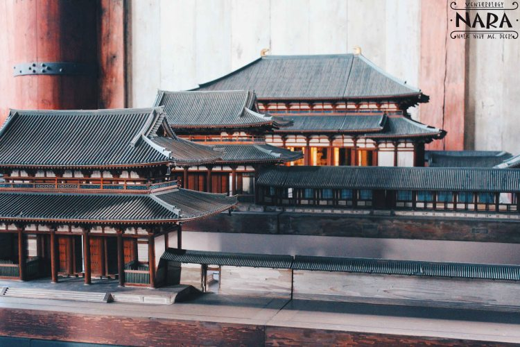 Miniature model of the temple inside the temple itself.