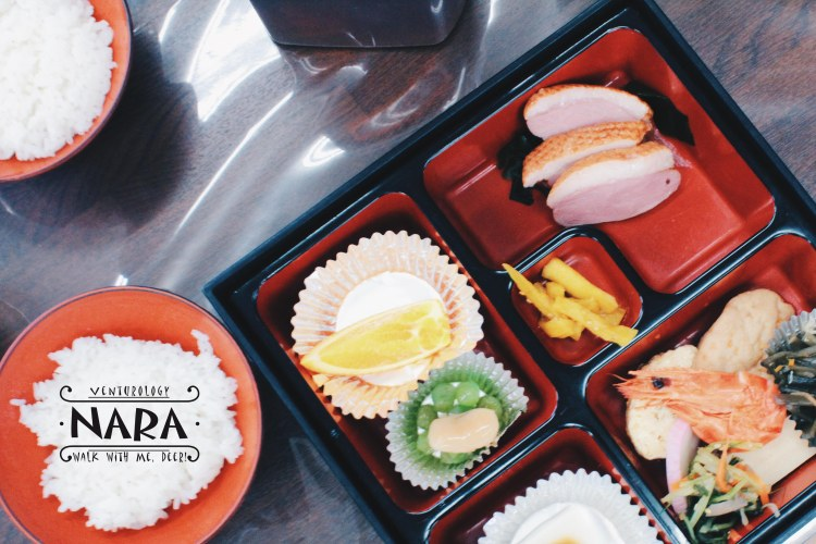 Beautiful bento for lunch.