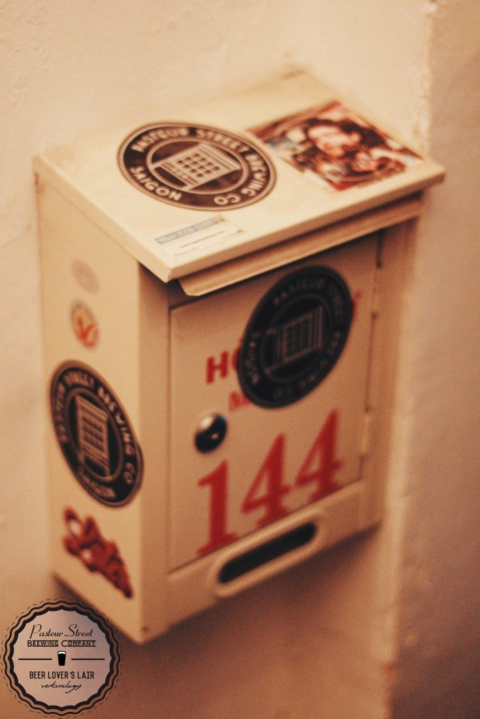 The beer bar's mail box