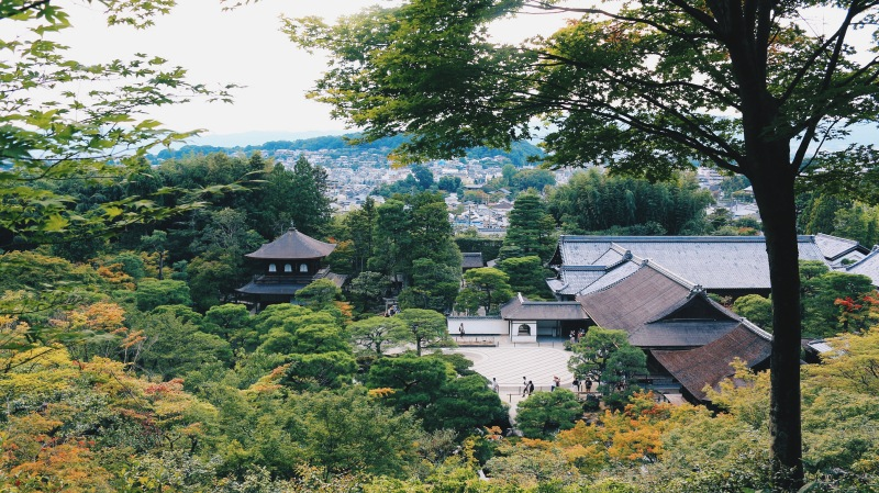 Today, Ginkakuji consists of the Silver Pavilion, half a dozen other temple buildings, a beautiful moss garden and a unique dry sand garden.