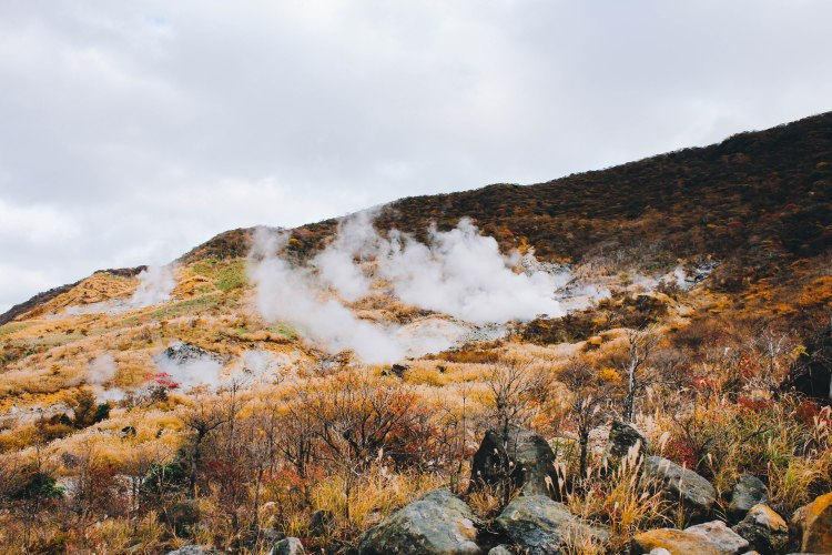 Khói núi lửa ở Owakudani