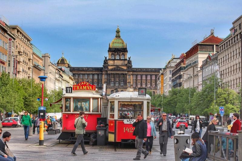 Wencelas Square, they called it the Champs-Élysées of Prague.