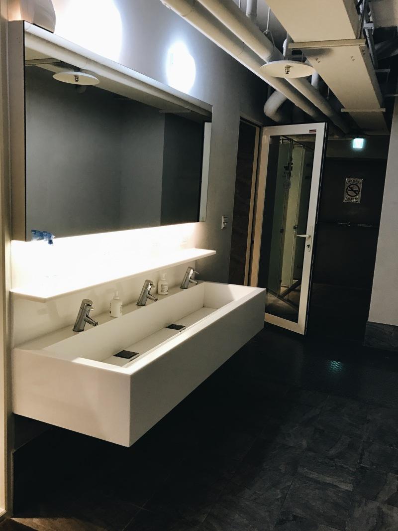 Nhà vệ sinh trong một hostel ở Đài Bắc
