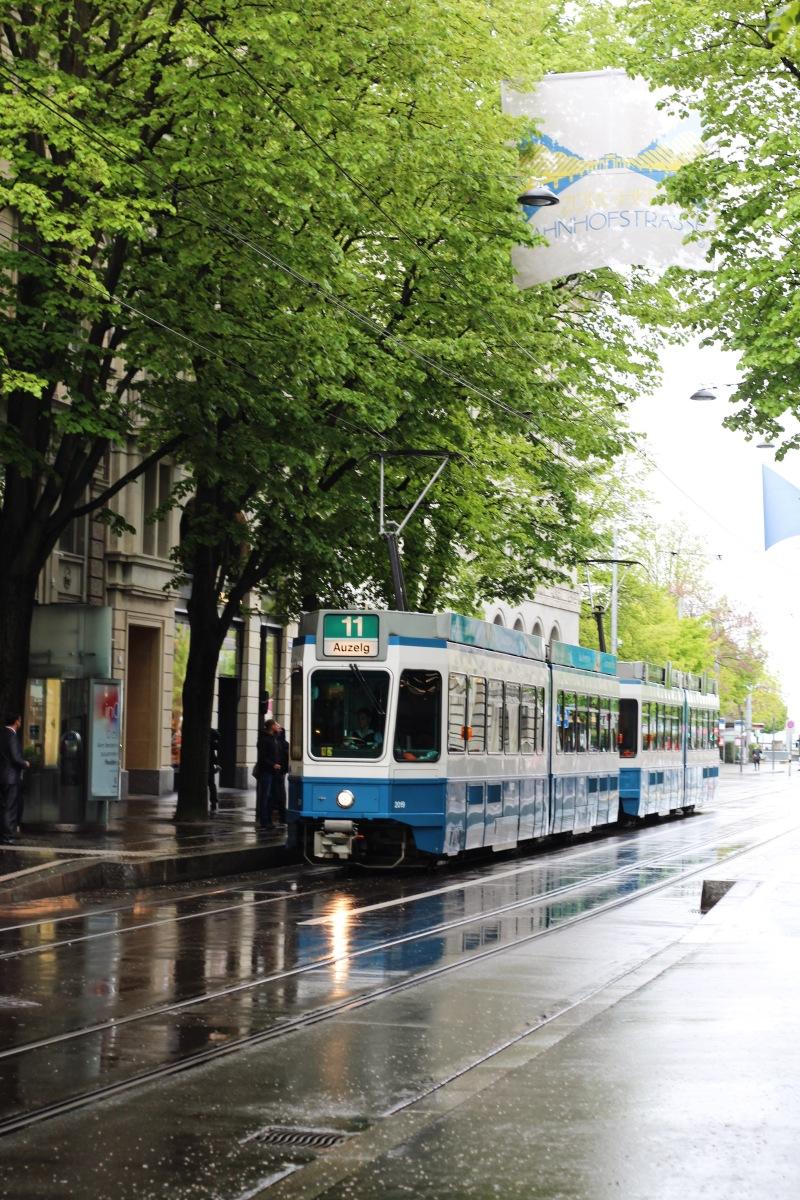 Tram in Zurich, Switzerland