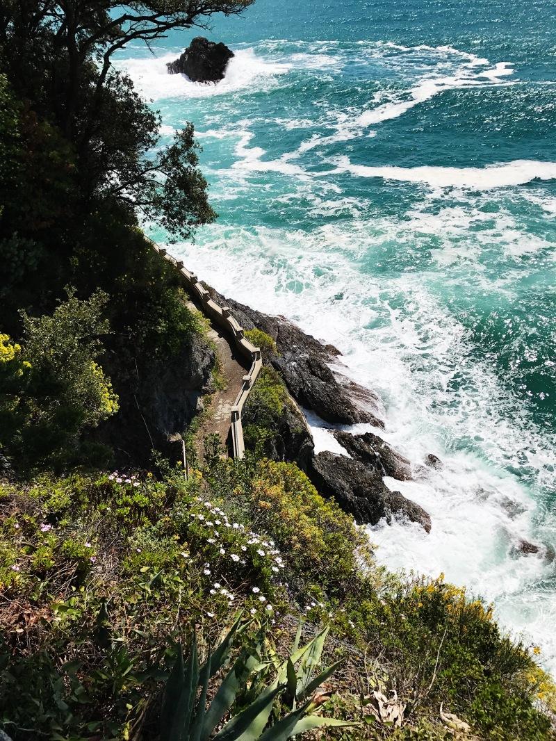 The cliff in Cinque Terre, Italy