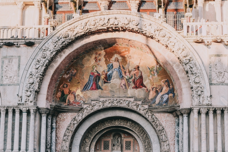 San Marco Church Facade in Venice Italy