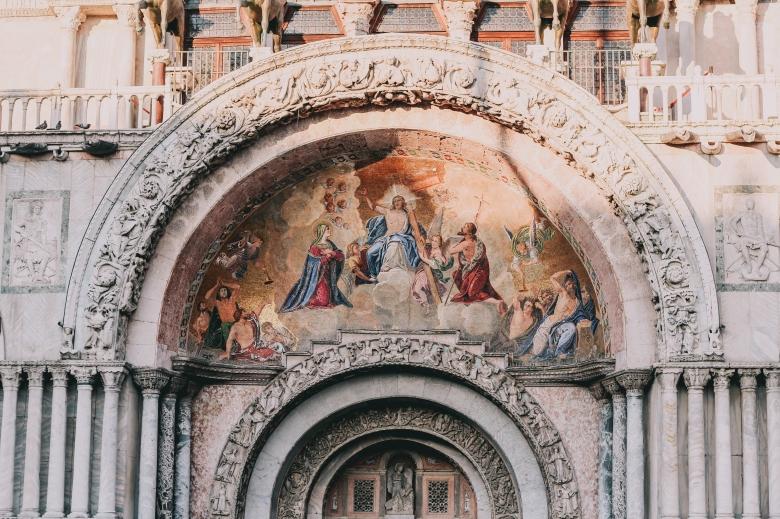 San Marco Church Facade in Venice Italy
