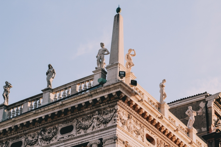 San Marco Square details in Venice Italy