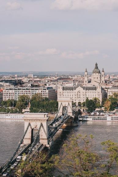 Budapest Chains Bridge above
