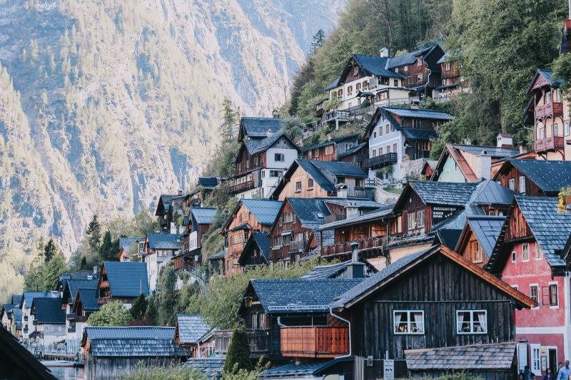 Hallstatt village landscape