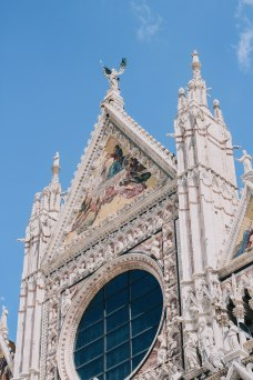 Details on the church in Siena