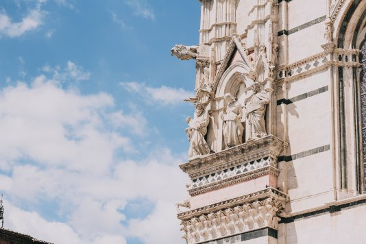 Gargoyles on the church in Siena