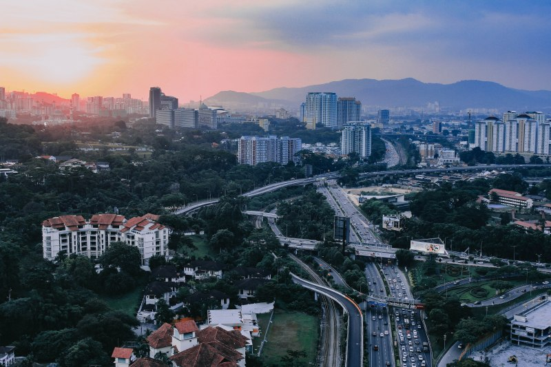 Kuala Lumpur thành phố hoàng hôn sunset Malaysia