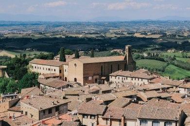 San Gimignano Landscape View Tuscany