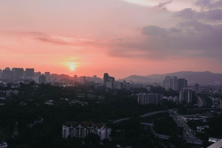 Sunset Kuala Lumpur Malaysia