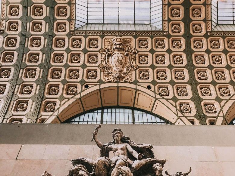 Bảo tàng d'Orsay Pháp Paris Musee d'Orsay kiến trúc trần