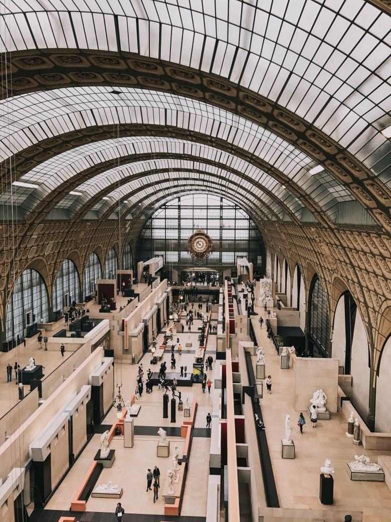 Bảo tàng d'Orsay Pháp Paris Musee d'Orsay sảnh chính main hall clock
