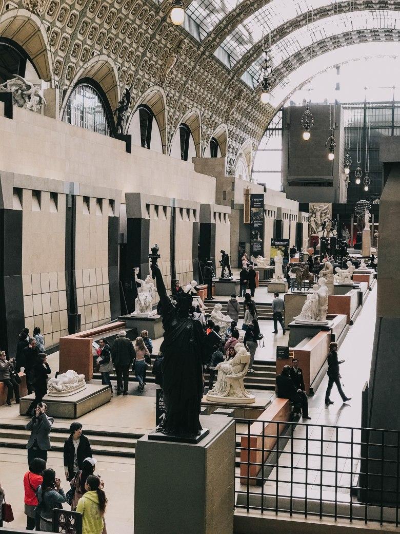 Bảo tàng d'Orsay Pháp Paris Musee d'Orsay sảnh chính main hall