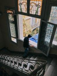 Cầu thang bên trong Bảo Tàng Mỹ Thuật Thành phố Hồ Chí Minh Fine Arts Museum