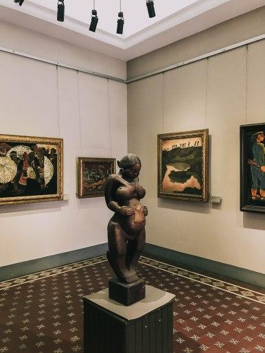 Khu trưng bày nghệ thuật tại Bảo Tàng Mỹ Thuật Thành phố Hồ Chí Minh Fine Arts Museum
