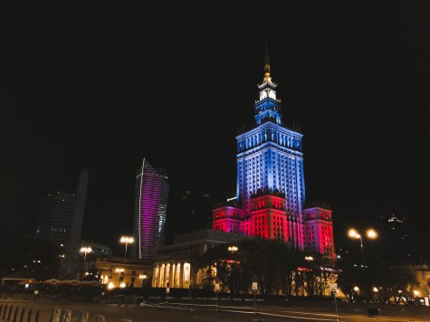 Palace of Culture and Science at night