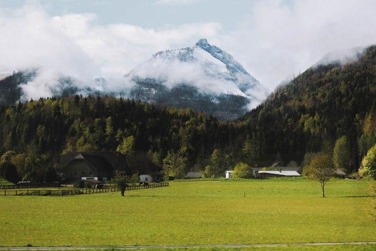 Salzkammergut Countryside Miền Quê Nước Áo Núi Mountain
