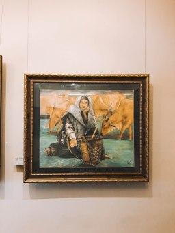 Tranh vẽ tại Bảo Tàng Mỹ Thuật Thành phố Hồ Chí Minh Fine Arts Museum
