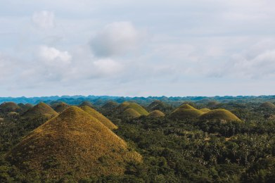 Bohol Chocolate Hills Overview Philippines
