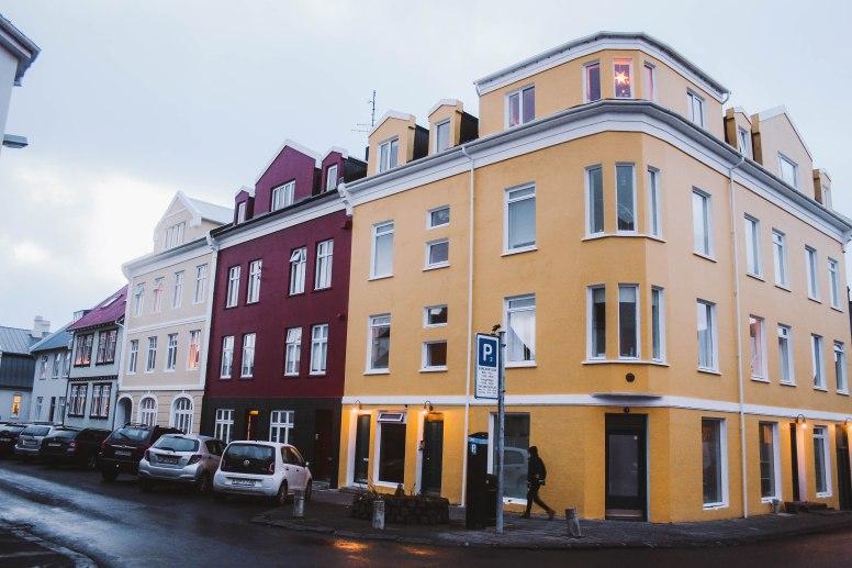 Reykjavik Iceland những ngôi nhà màu sắc