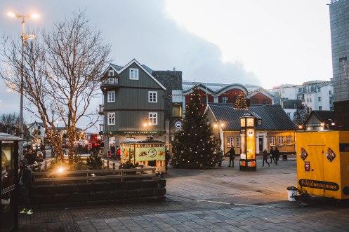 Reykjavik Iceland phố Noel