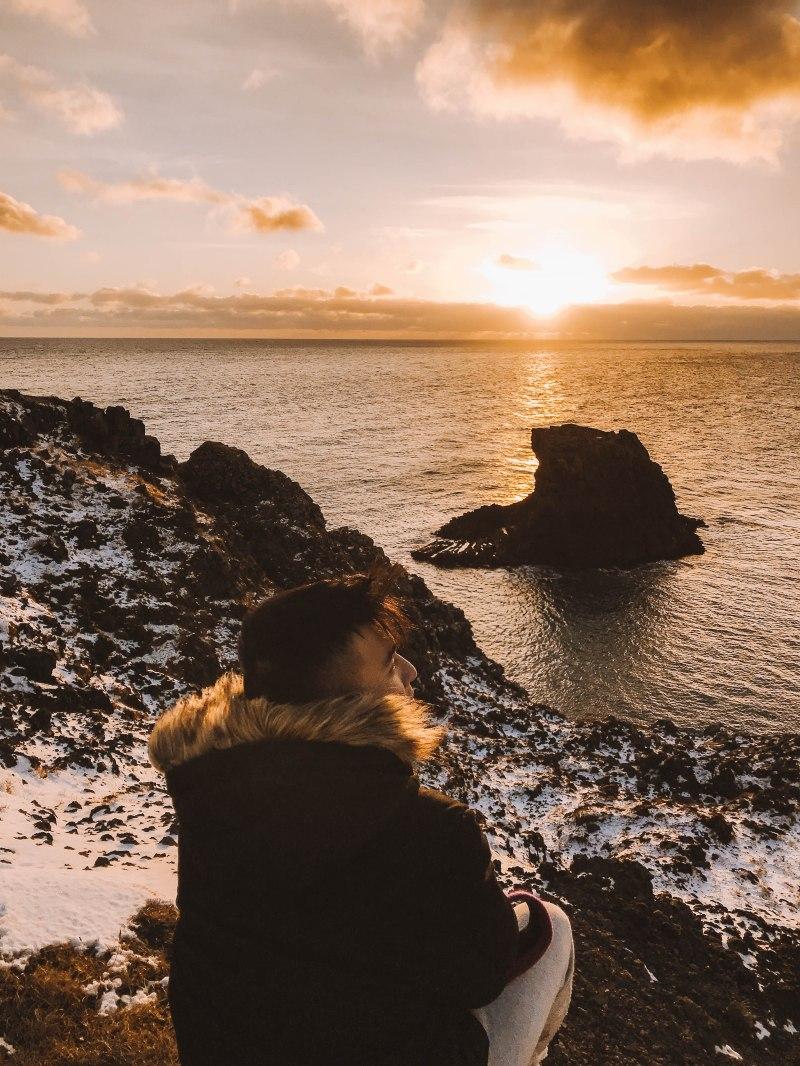 Lý thành Cơ Arnarstapi Iceland Bờ biển