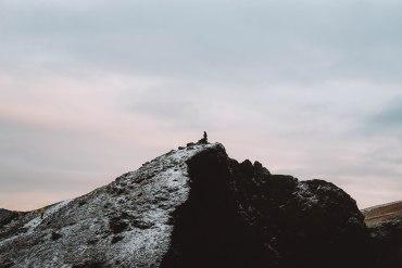 Reykjanesviti cliffs sky