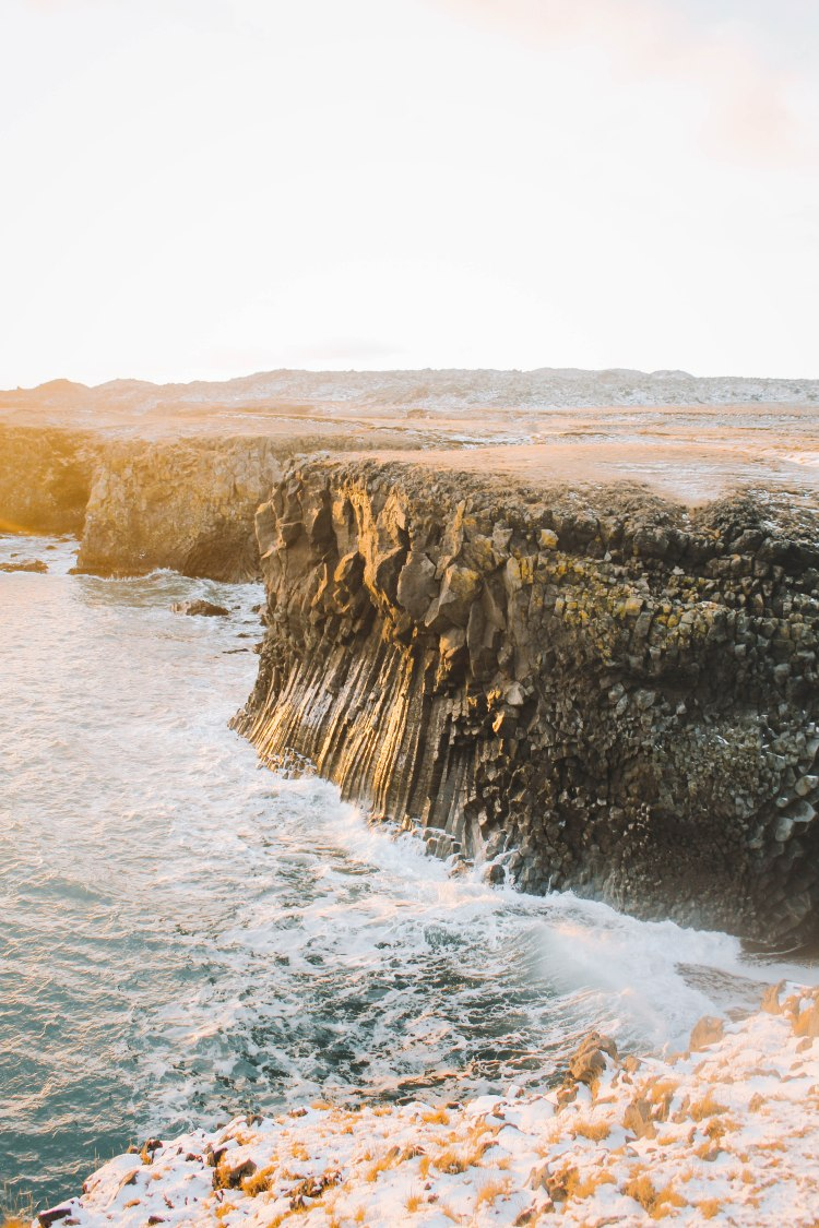 The cliff in Arnarstapi