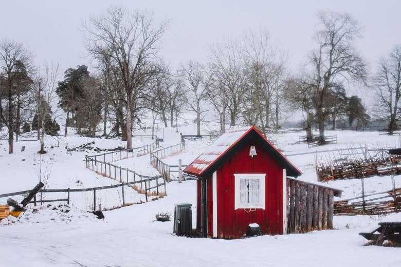Cảnh làng quê ở Uppsala