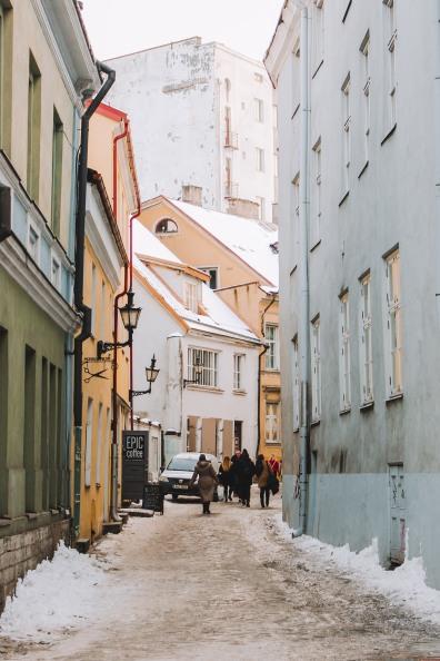 Góc xinh xắn ở Phố cổ Tallinn Estonia