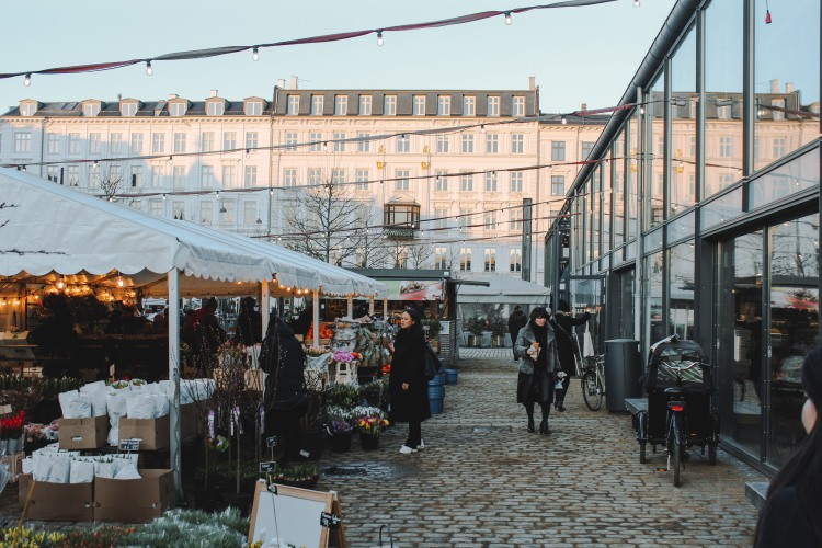 Khu chợ ngoài trời Torvehallnerne